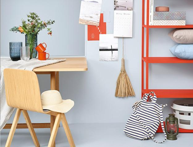 orange furniture and decor accessories