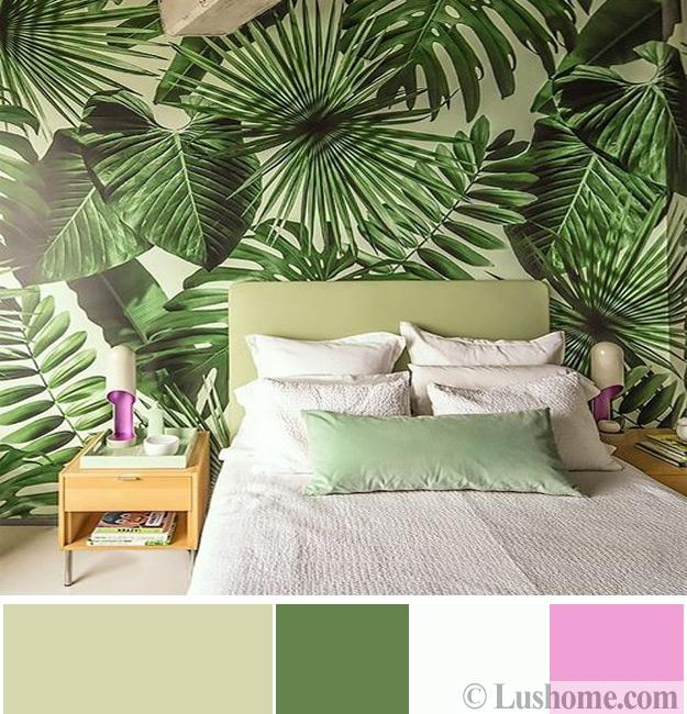 green bedroom wallpaper