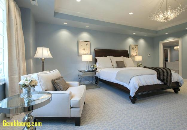 Elegant Grayish Blue And White Room Colors Modern