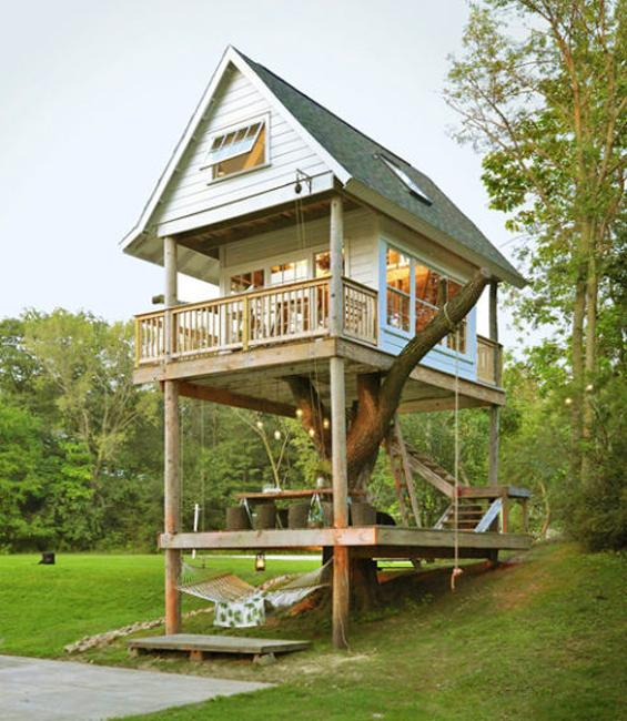 Luxury Tree Houses Designs: Charming Treehouses, Romantic Homes Grown On Trees