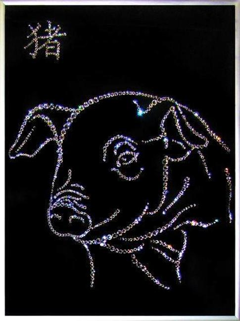 crystal pig artwork