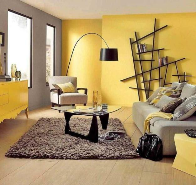 Bright Yellow And White Decorating Ideas, Sunny Color
