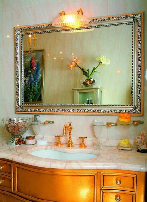 Neutral Colors And Vibrant Accents Small Bathroom