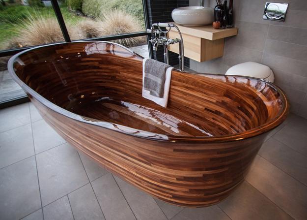 Wooden Bathtub Diy Soaking Tubs