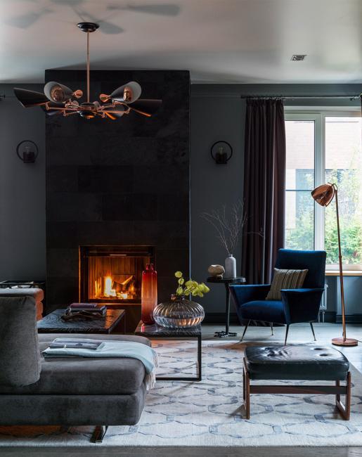Contemporary Interior Design Around Modern Fireplaces in ...