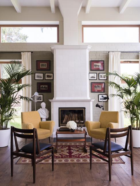 contemporary interior design around modern fireplaces in