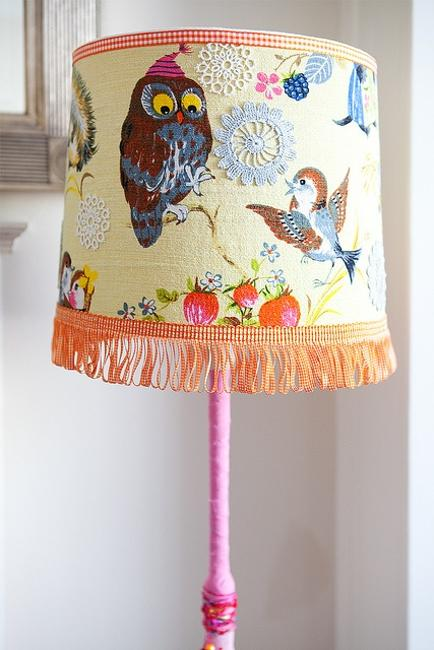 bird images table lamp