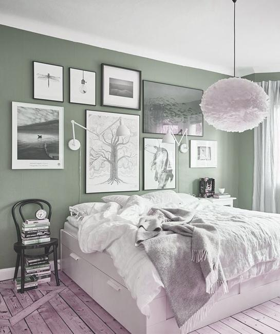 Contemporary Home Decor Ideas: Modern Color Trends 2020, Tranquil Dawn Bluish Grayish Green