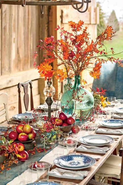 Bright And Festive Ideas For Thanksgiving Table Decorating