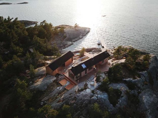 island cabin in finland