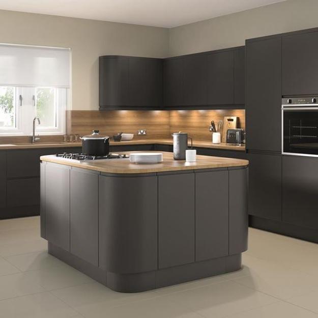 Sleek Contemporary Kitchen Cabinets, Minimalist Handles