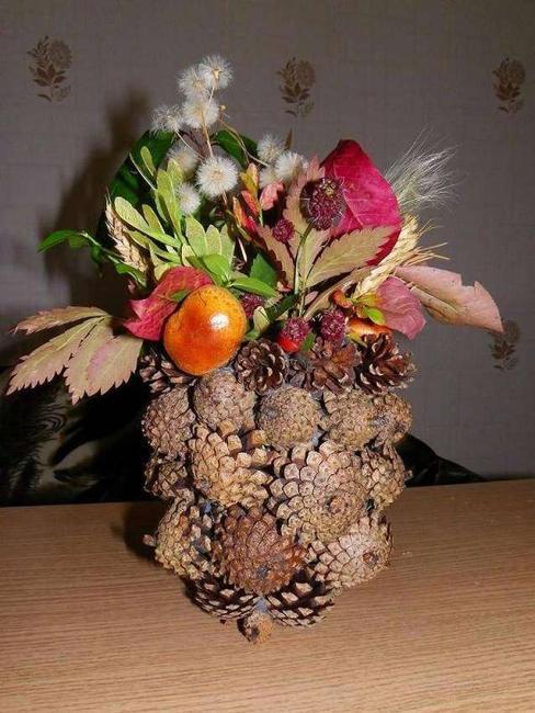 fall ideas basket centerpiece idea