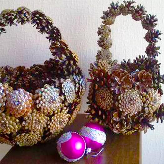 DIY Pinecone Baskets, Table Centerpiece Ideas For