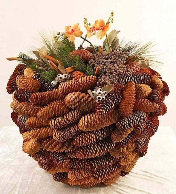DIY Pinecone Baskets, Table Centerpiece Ideas For