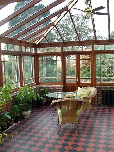 Outdoor Seating Areas In Beautiful Sun Rooms And