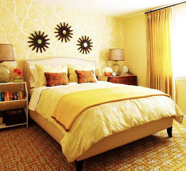 Warm Yellow And Beige Bedroom Colors, Modern Ideas In