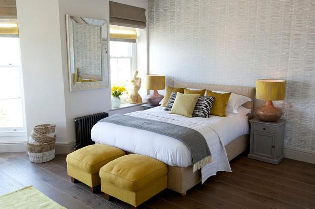 Warm Yellow and Beige Bedroom Colors, Modern Ideas in Color ...