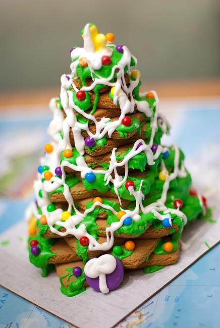 edible decorations christmas tree cookies