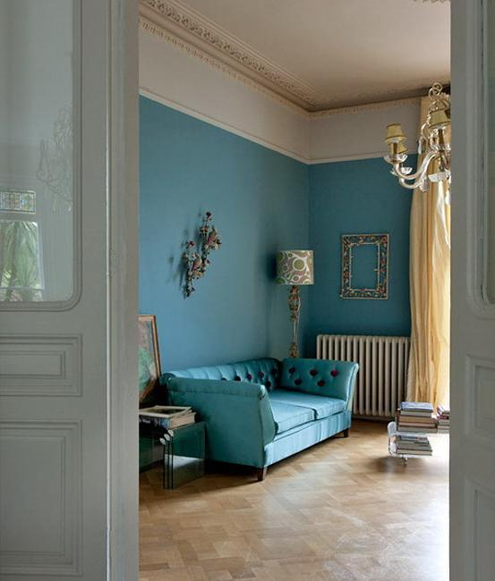Classic Interior Design In Blue Redefining The Elegance