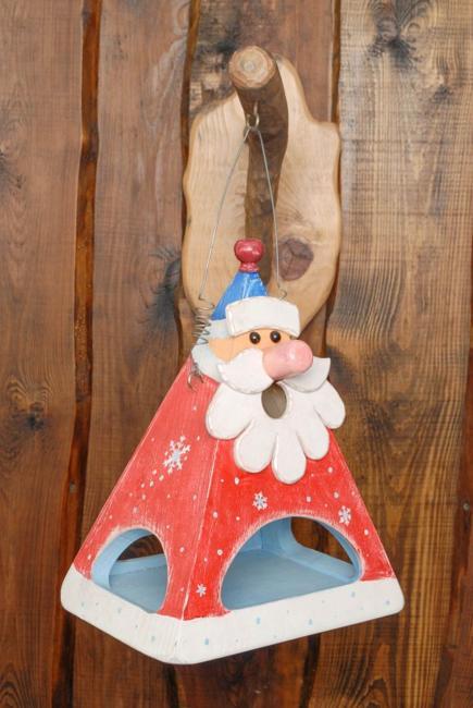 santa bird feeder