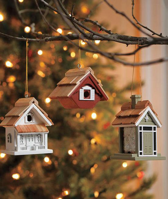 hanging holiday ornaments twig decor