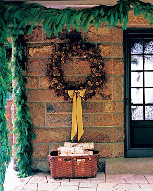 Outdoor Christmas Decorating With Green Garlands And Winter Holiday Wreaths,Keeping Up With The Joneses Full Movie English