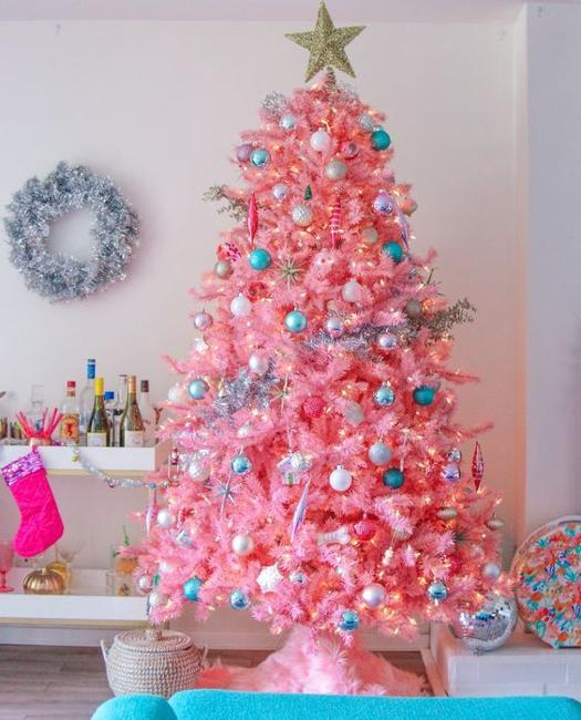 Christmas Tree Colour Schemes 2014: Pink Christmas Trees, Color Trends In Decorating Holiday Trees