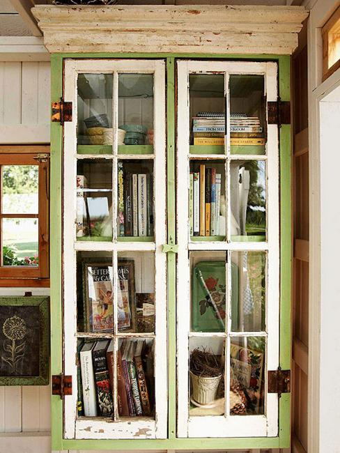 recycling bookcase garden storage