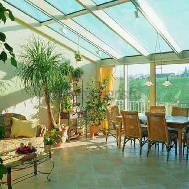 Sunrooms And Beautiful Winter Gardens With Lush