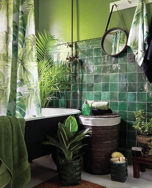 green bathroom colors