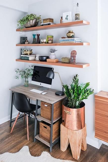small home office shelves