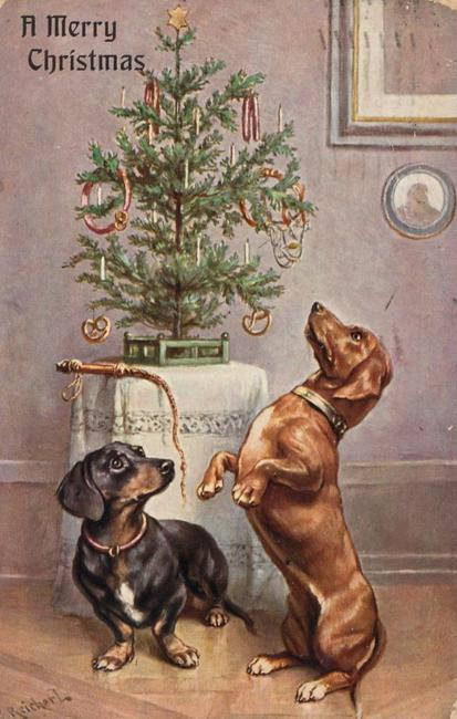 christmas tree vintage post