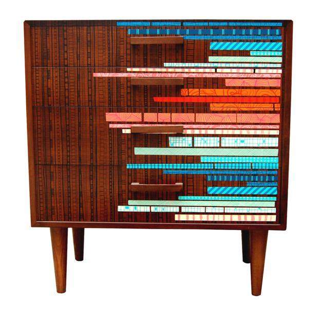 colorful wood furniture