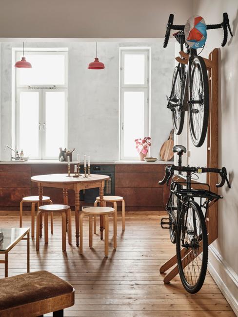 two bike wall storage