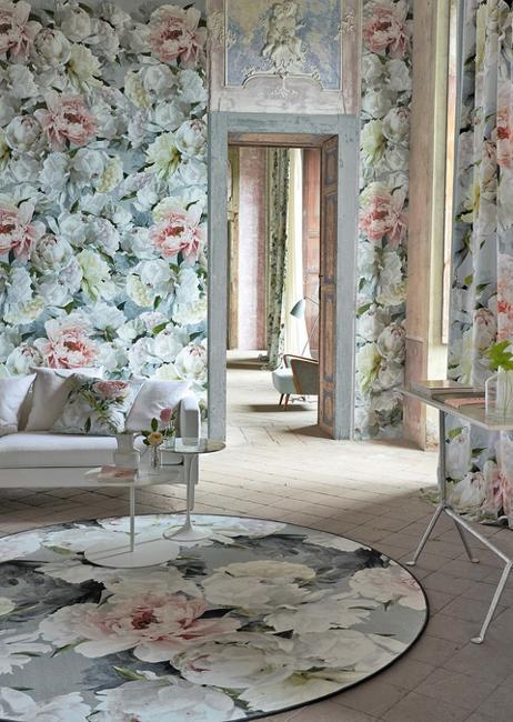 floral wallpaper textiles