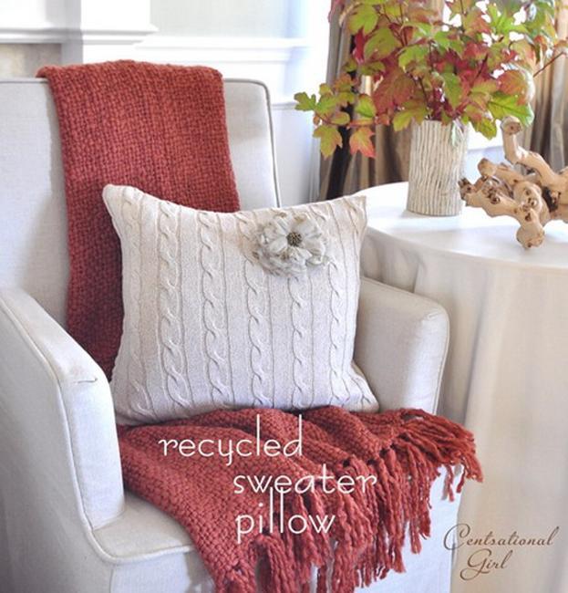 flower design handmade pillow