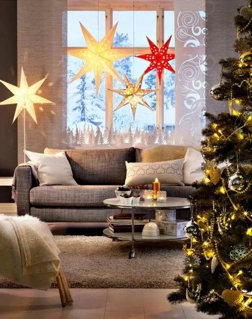 colorful star decorations
