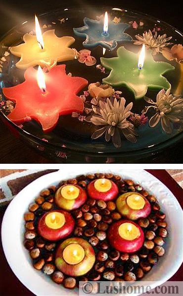 diy candles centerpieces fall decorating