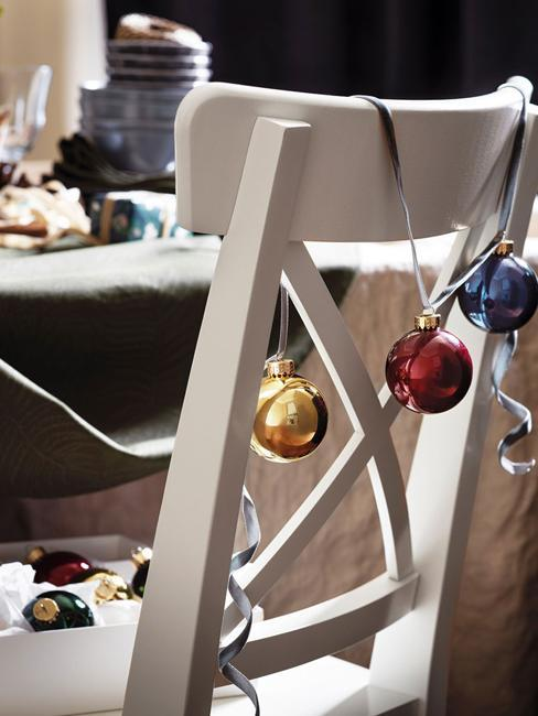 christmas balls chair decorations