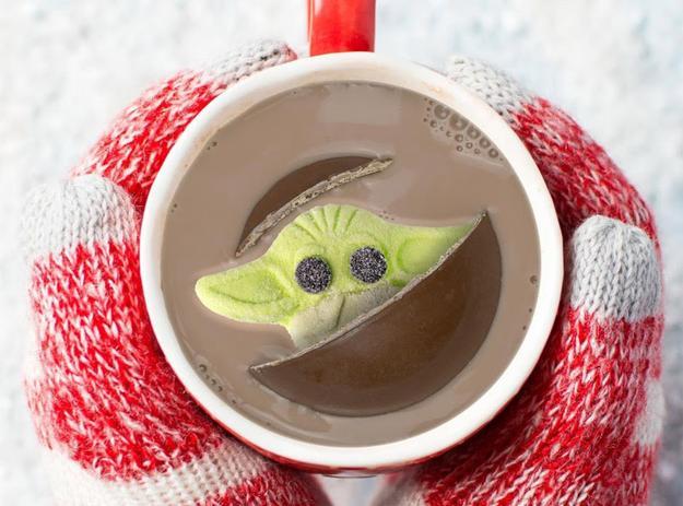 hot chocolate baby yoda marshmallow