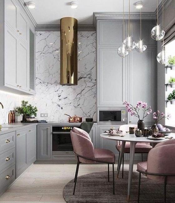 light purple upholstered dining furniture