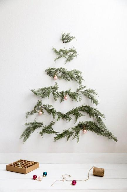 alternative christmas tree designs wood materials