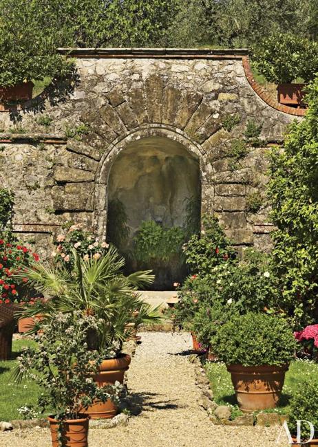 stone garden features