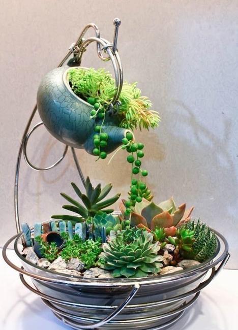 ceramic teapot planter handmade decorations