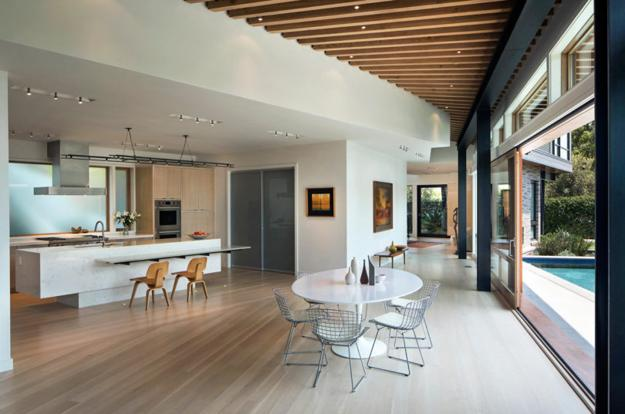 contemporary kitchen dining area