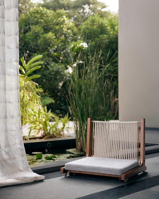 Oriental garden design outdoor furniture
