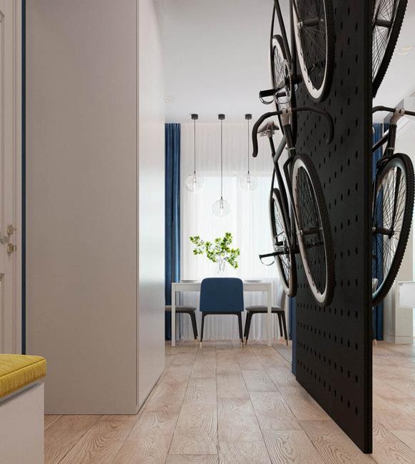 entryway design bike storage