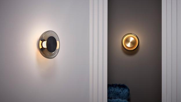 circular wall lights brass bronze