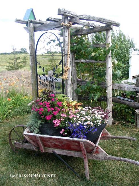 arbor summer flowers