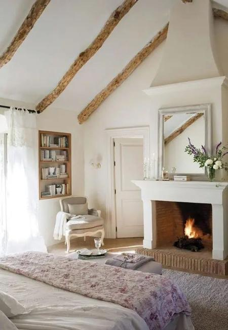 white decorating wood country bedroom designs